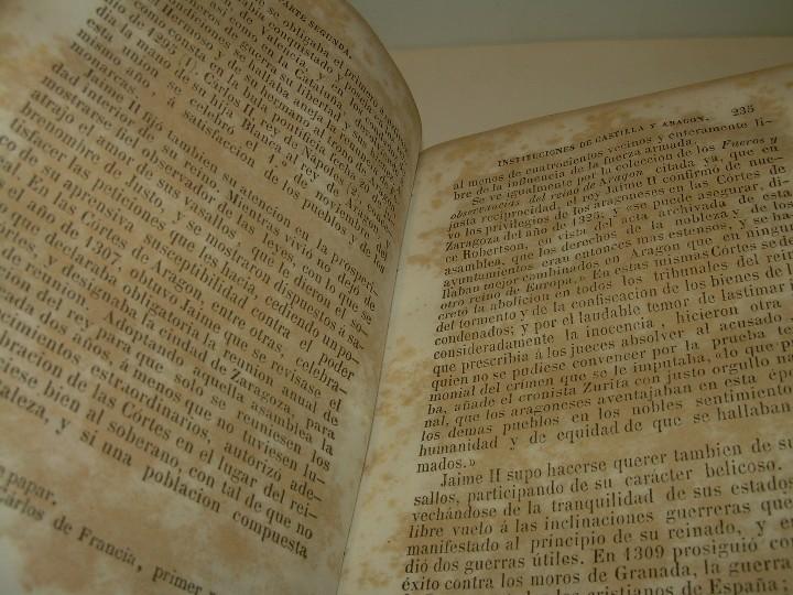 Libros antiguos: DOS TOMOS HISTORIA DE LAS MONARQUIAS ESPAÑOLAS DESDE EL 411 AL 1833.....AÑO 1848 - Foto 6 - 105618019