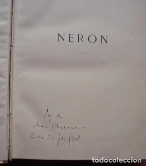 Libros antiguos: Nerón. Estudio histórico. Tomos I, II y III - CASTELAR, Emilio. 1891-1893 - Foto 5 - 104753167