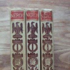 Libros antiguos: NERÓN. ESTUDIO HISTÓRICO. TOMOS I, II Y III - CASTELAR, EMILIO. 1891-1893. Lote 104753167
