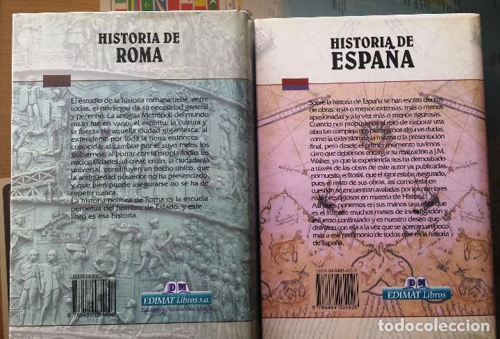 Libros antiguos: HISTORIA DE ROMA e HISTORIA DE ESPAÑA - Foto 2 - 106569431