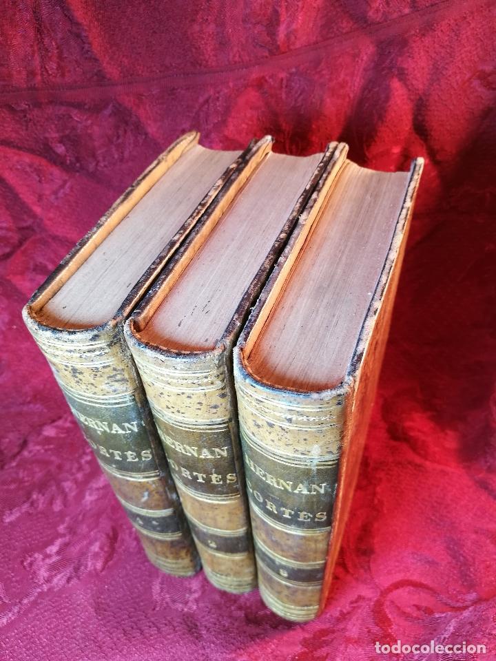 Libros antiguos: GLORIAS NACIONALES. HERNAN CORTES. 3 TOMOS. AÑO 1868. DESCUBRIMIENTO Y CONQUISTA DE MEJICO. - Foto 2 - 106949507
