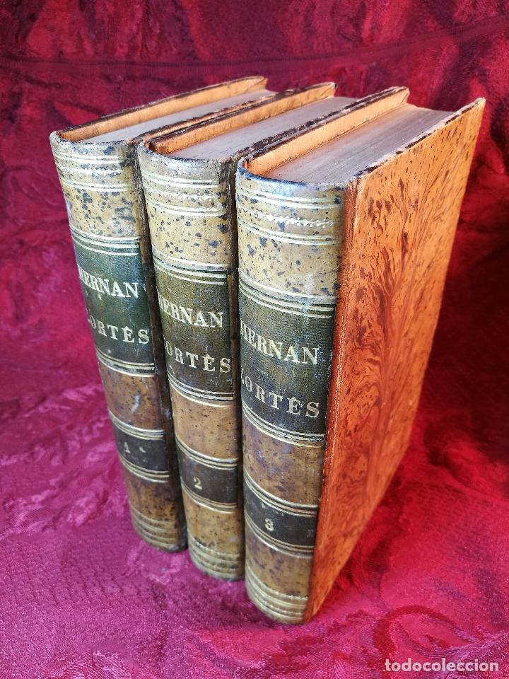 Libros antiguos: GLORIAS NACIONALES. HERNAN CORTES. 3 TOMOS. AÑO 1868. DESCUBRIMIENTO Y CONQUISTA DE MEJICO. - Foto 3 - 106949507