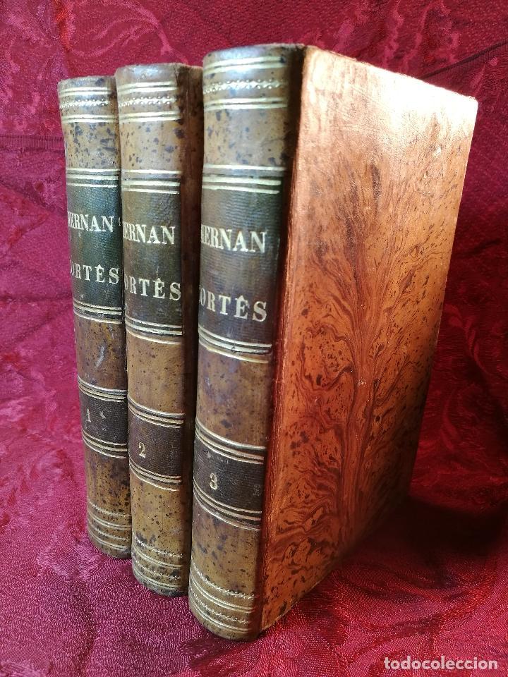 Libros antiguos: GLORIAS NACIONALES. HERNAN CORTES. 3 TOMOS. AÑO 1868. DESCUBRIMIENTO Y CONQUISTA DE MEJICO. - Foto 4 - 106949507