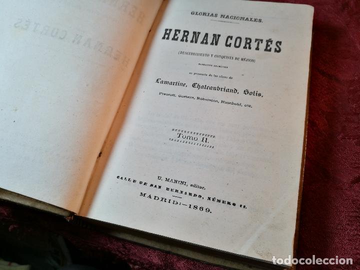 Libros antiguos: GLORIAS NACIONALES. HERNAN CORTES. 3 TOMOS. AÑO 1868. DESCUBRIMIENTO Y CONQUISTA DE MEJICO. - Foto 12 - 106949507