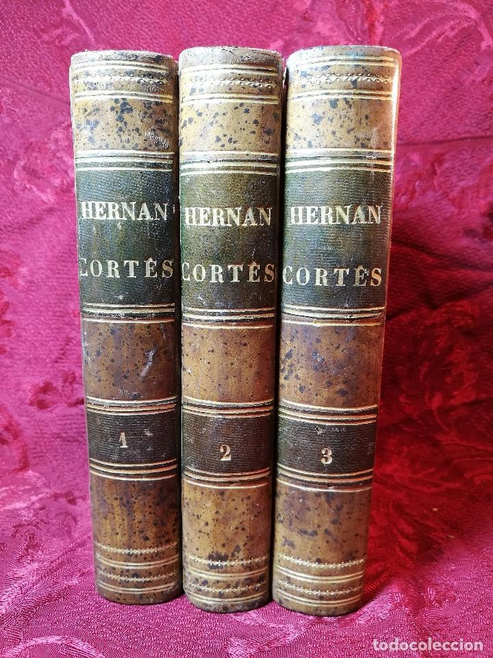 Libros antiguos: GLORIAS NACIONALES. HERNAN CORTES. 3 TOMOS. AÑO 1868. DESCUBRIMIENTO Y CONQUISTA DE MEJICO. - Foto 28 - 106949507