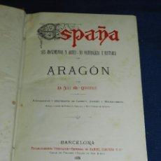 Alte Bücher - (MF) JOSE M QUADRADO - ARAGON , MUY ILUSTRADO , EDT DANIEL CORTEZO, BARCELONA 1886 - 107220067