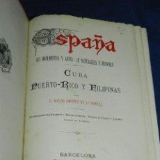 Livros antigos: (MF) WALDO JIMENEZ DE LA ROMERA - CUBA , PUERTO RICO Y FILIPINAS , EDT DANIEL CORTEZO 1887. Lote 107221127