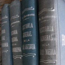 Libros antiguos: HISTORIA GENERAL,1927,BARBARIN,EDADES ANTIGUA,MEDIA,MODERNA Y CONTEMPORANEA,TELA,22X15,ILUSTRADA. Lote 107834739