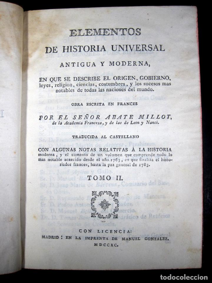 Libros antiguos: Año 1790 Antigua Grecia y Roma Sócrates Alejandro Magno astronomía medicina historia Castellano - Foto 5 - 108045355