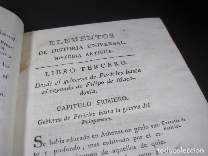 Libros antiguos: Año 1790 Antigua Grecia y Roma Sócrates Alejandro Magno astronomía medicina historia Castellano - Foto 7 - 108045355