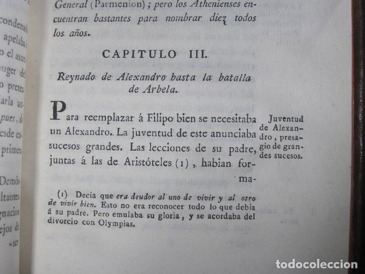 Libros antiguos: Año 1790 Antigua Grecia y Roma Sócrates Alejandro Magno astronomía medicina historia Castellano - Foto 11 - 108045355