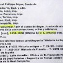 Libros antiguos: HISTORIA UNIVERSAL -CONDE DE SEGUR - 30 TOMOS . Lote 108721207