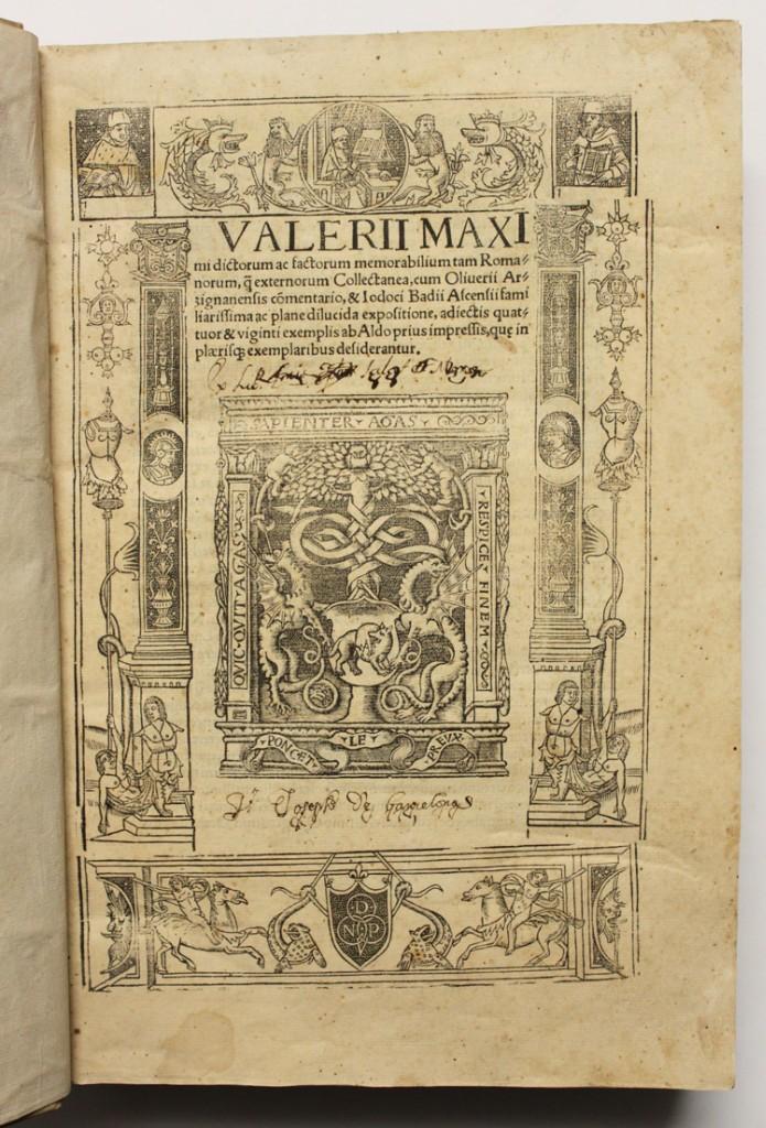 VALERII MAXIMI DICTORUM AC FACTORUM MEMORABILIUM TAM ROMANORUM, Q[UE] EXTERNORUM COLLECTANEA, CUM... (Libros antiguos (hasta 1936), raros y curiosos - Historia Antigua)