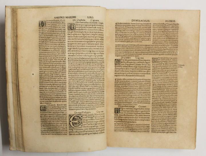 Libros antiguos: VALERII MAXIMI dictorum ac factorum memorabilium tam Romanorum, q[ue] externorum Collectanea, cum... - Foto 3 - 109021155