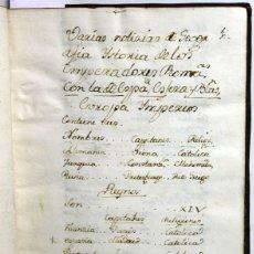 Alte Bücher - [Manuscrito.] VARIAS NOTICIAS DE GEOGRAFIA YSTORIA DE LOS EMPERADORES ROMA[N]OS, CON LA DE ESPA[Ñ]A - 109023232