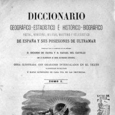 Libros antiguos: DICCIONARIO GEOGRÁFICO-ESTADÍSTICO É HISTÓRICO-BIOGRÁFICO, POSTAL, MUNICIPAL... 1879-87. 12 VOLS.. Lote 109023296