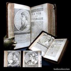 Libros antiguos: AÑO 1684 PLUTARCO VIDAS PARALELAS HOMBRES ILUSTRES ANTIGUA GRECIA Y ROMA GRABADOS A PLENA PÁGINA. Lote 109508091