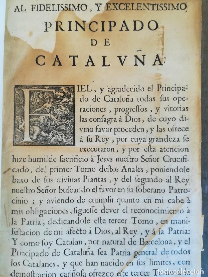 Libros antiguos: LIBRO SIGLO XVIII,ANALES DE CATALUÑA,AÑO 1709,SUCESOS DE1458 A 1709,GUERRA SEGADORS,SUCESOS HISTORIA - Foto 6 - 109555439