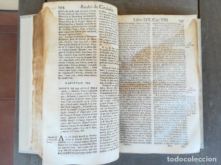 Libros antiguos: LIBRO SIGLO XVIII,ANALES DE CATALUÑA,AÑO 1709,SUCESOS DE1458 A 1709,GUERRA SEGADORS,SUCESOS HISTORIA - Foto 10 - 109555439