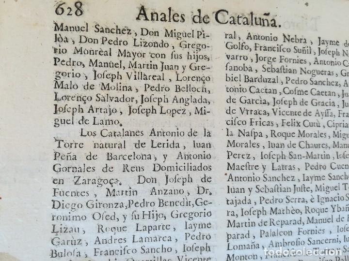 Libros antiguos: LIBRO SIGLO XVIII,ANALES DE CATALUÑA,AÑO 1709,SUCESOS DE1458 A 1709,GUERRA SEGADORS,SUCESOS HISTORIA - Foto 12 - 109555439