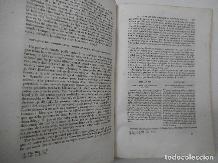 Libros antiguos: Esplicacion histórica de las Instituciones del emperador Justiniano - 1847 - Foto 6 - 109582067