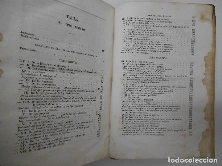 Libros antiguos: Esplicacion histórica de las Instituciones del emperador Justiniano - 1847 - Foto 7 - 109582067