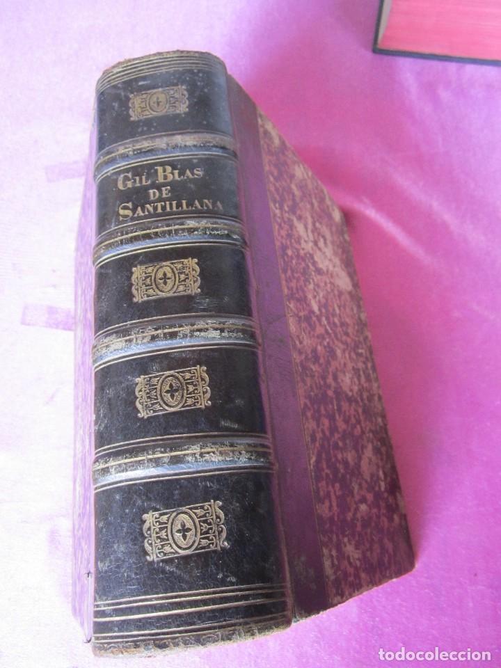 HISTORIA DE GIL BLAS DE SANTILLANA. - LESAGE, ALAIN RENÉ. 1840 OBRA COMPLETA CORTES TINTADOS (Libros antiguos (hasta 1936), raros y curiosos - Historia Antigua)