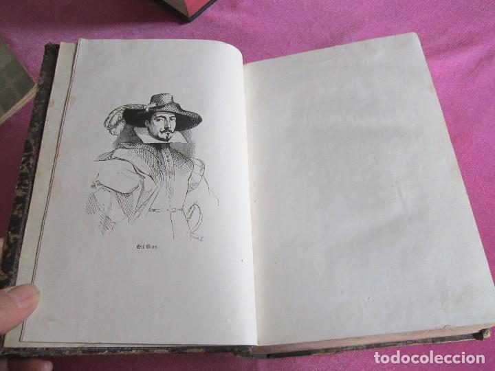 Libros antiguos: HISTORIA DE GIL BLAS DE SANTILLANA. - LESAGE, ALAIN RENÉ. 1840 OBRA COMPLETA CORTES TINTADOS - Foto 10 - 109756515