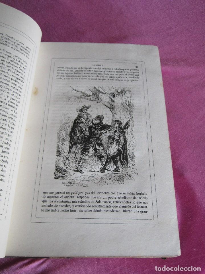 Libros antiguos: HISTORIA DE GIL BLAS DE SANTILLANA. - LESAGE, ALAIN RENÉ. 1840 OBRA COMPLETA CORTES TINTADOS - Foto 13 - 109756515