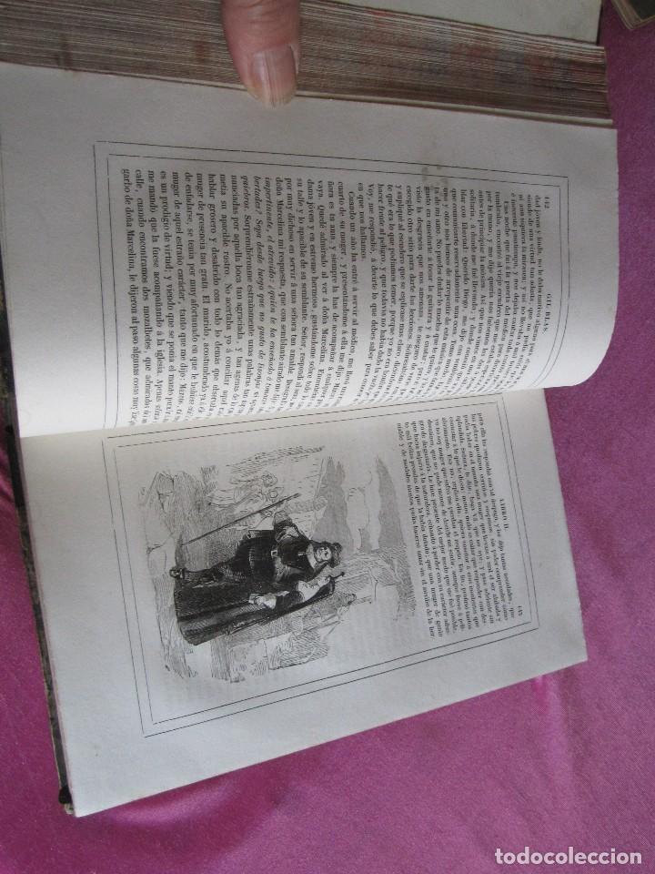 Libros antiguos: HISTORIA DE GIL BLAS DE SANTILLANA. - LESAGE, ALAIN RENÉ. 1840 OBRA COMPLETA CORTES TINTADOS - Foto 14 - 109756515