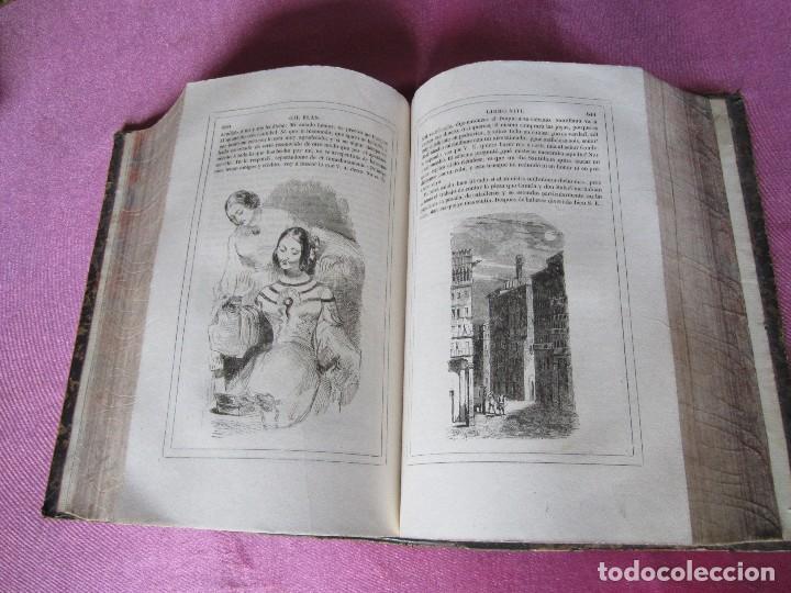 Libros antiguos: HISTORIA DE GIL BLAS DE SANTILLANA. - LESAGE, ALAIN RENÉ. 1840 OBRA COMPLETA CORTES TINTADOS - Foto 15 - 109756515