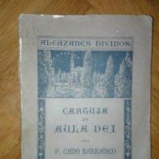 Libros antiguos: CARTUJA DE AULA-DEI, 1925,PEDRO CANO BARRANCO DEDICATORIA DEL AUTOR AL FAMOSO CARICATURISTA BON . Lote 110001051