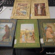 Libros antiguos: LOTE LIBRO ARALUCE PAGINAS BRILLANTES ILUSTRADOS. Lote 110015399