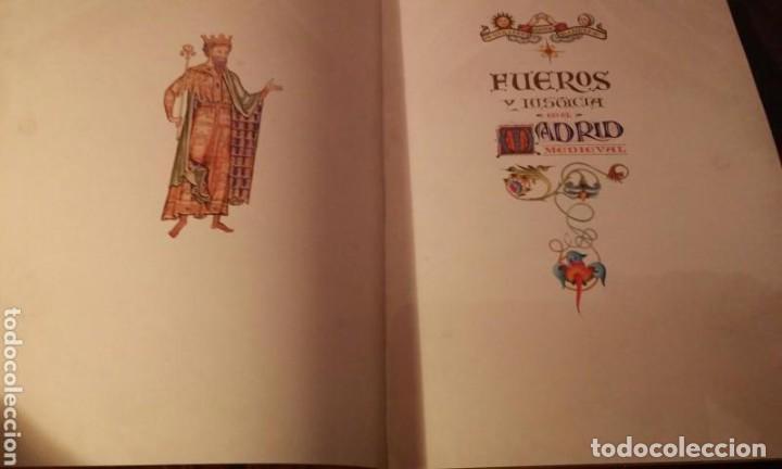 Libros antiguos: FUEROS DEL MADRID MEDIEVAL(ENUMERADA DE 750 EJEMPLARES)GUILLERMO BLAZQUEZ EDITOR 2003 - Foto 3 - 110906611