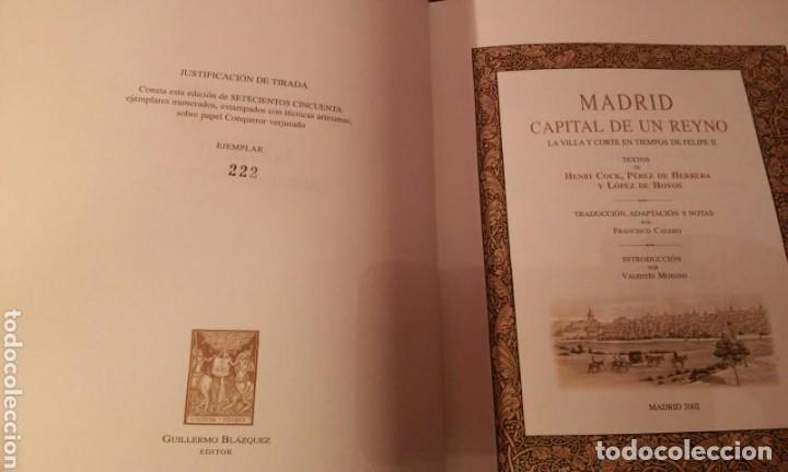 Libros antiguos: MADRID CAPITAL DE UN REYNO .HENRI COCK.PEREZ DE HERRERA .LOPEZ DE HOYOS (NUMERADA 750 EJEMPLARES) - Foto 4 - 110907779