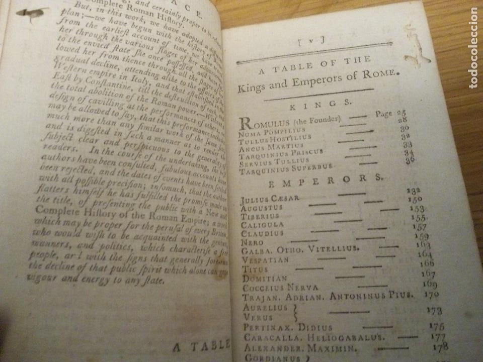 Libros antiguos: Roman History. William Henry Melmoth 1782 - Foto 3 - 111437647