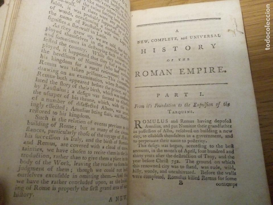 Libros antiguos: Roman History. William Henry Melmoth 1782 - Foto 5 - 111437647
