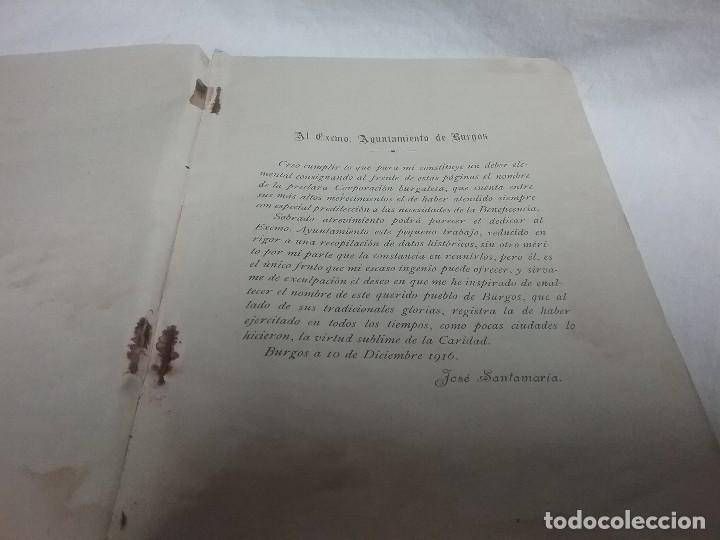 Libros antiguos: ANTIGUO LIBRO RESEÑA HISTÓRICA DE LOS HOSPITALES DE LA CIUDAD DE BURGOS - JOSÉ SANTAMARIA - 1914 - Foto 3 - 111480827