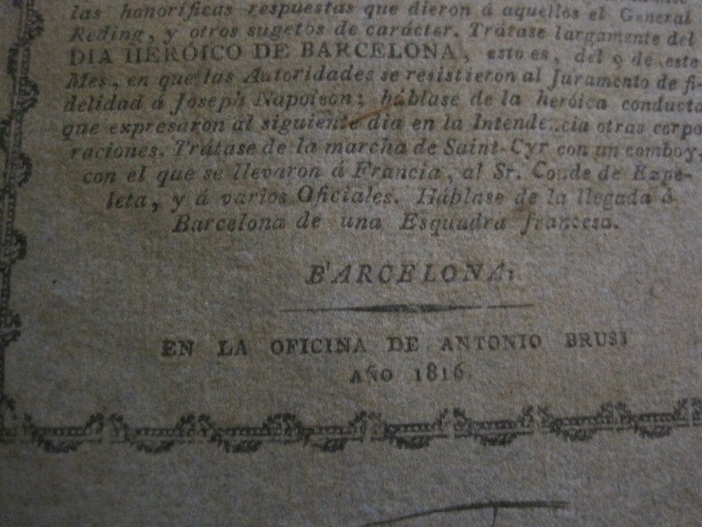 Libros antiguos: BARCELONA CAUTIVA- ABRIL 1809 - CUADERNO 15- INCLUYE GRABADO VIVA FERNANDO VII-VER FOTOS-(V-13.352) - Foto 5 - 111606359