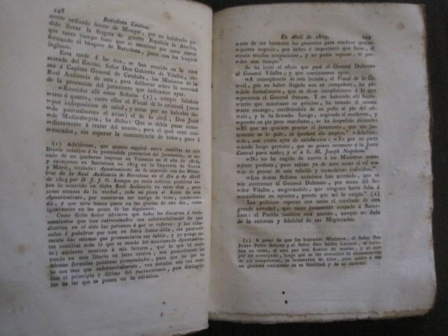 Libros antiguos: BARCELONA CAUTIVA- ABRIL 1809 - CUADERNO 15- INCLUYE GRABADO VIVA FERNANDO VII-VER FOTOS-(V-13.352) - Foto 10 - 111606359