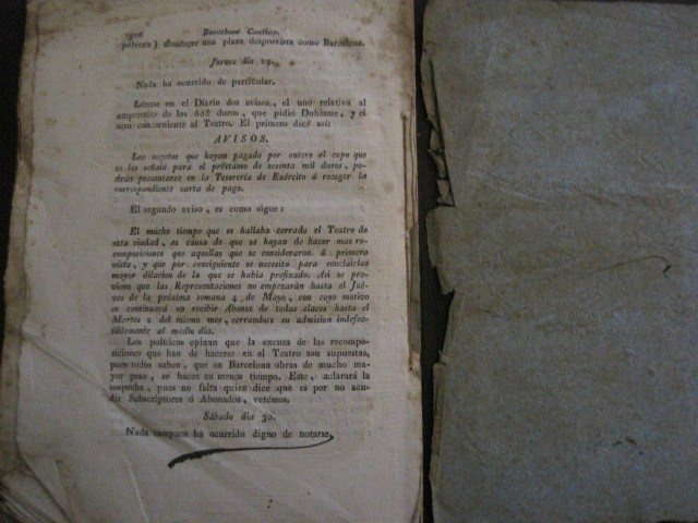 Libros antiguos: BARCELONA CAUTIVA- ABRIL 1809 - CUADERNO 15- INCLUYE GRABADO VIVA FERNANDO VII-VER FOTOS-(V-13.352) - Foto 15 - 111606359