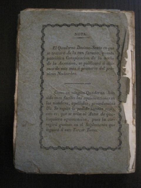 Libros antiguos: BARCELONA CAUTIVA- ABRIL 1809 - CUADERNO 15- INCLUYE GRABADO VIVA FERNANDO VII-VER FOTOS-(V-13.352) - Foto 16 - 111606359