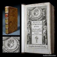 Libros antiguos: AÑO 1689 DE REBUS GESTIS ALEXANDRI MAGNI HISTORIA DE ALEJANDRO MAGNO CURTIUS GRABADO FRONTISPICIO. Lote 111741691