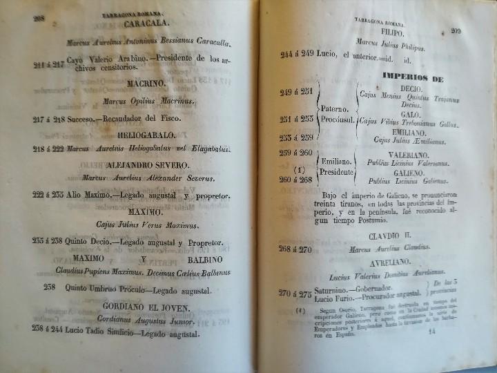 Libros antiguos: ANTIGUO LIBRO,TARRAGONA MONUMENTAL,ANTIGUEDADES Y MONUMENTOS,1849,ARCO DE BARA,ACUEDUCTO,ARQUEOLOGIA - Foto 7 - 112053567