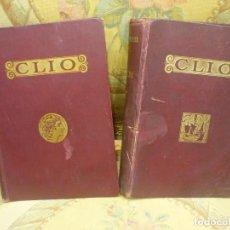 Libros antiguos: CLÍO: INICIACIÓN AL ESTUDIO DE LA HISTORIA, DE RAFAEL BALLESTER Y CASTELL. DOS TOMOS. COMPLETO. 1931. Lote 112089159