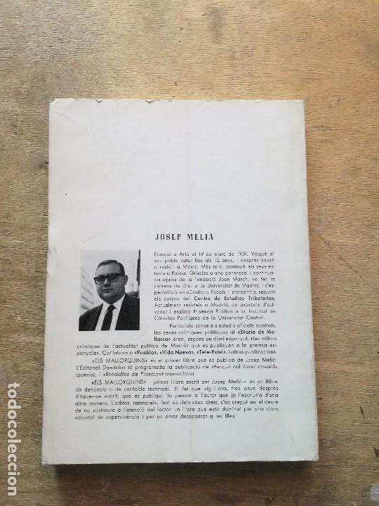 Libros antiguos: ELS MALLORQUINS. JOSEP MELIÀ. - Foto 2 - 112317263