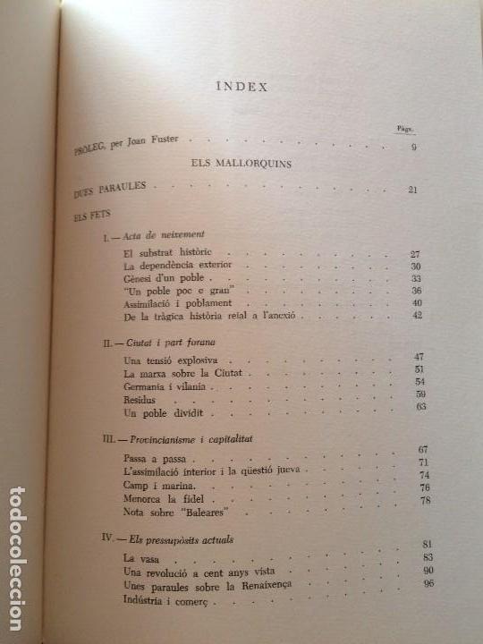 Libros antiguos: ELS MALLORQUINS. JOSEP MELIÀ. - Foto 4 - 112317263