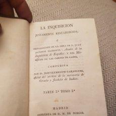 Libros antiguos: LA INQUISICIÓN JUSTAMENTE RESTABLECIDA. 1816. Lote 112752743