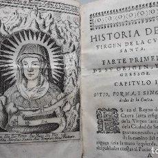 Libros antiguos: HISTORIA DE LA VIRGEN DE LA CUEVA SANTA AÑO 1655,ORIGINAL.VALENCIA.. Lote 113240243
