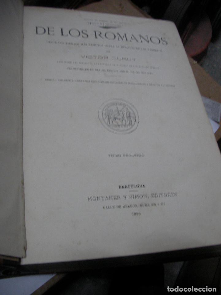 Libros antiguos: IMPRESIONATE ANTIGUOS VOLUMENES - HISTORIA DE LOS ROMANOS - VICTOR DURUY (MONTANER Y SIMÓN, 1888 - Foto 4 - 113359635
